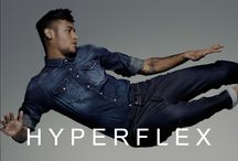REPLAY // Hyperflex / Replay Jeans have changed the rules of denim with the new HYPERFLEX collection. Created using an innovative process that allows the denim to model and fit to your body without losing comfort and designed using a structure of fabric that ensures the shape is retained wear after wear. Get ready to #StretchYourLimits! / by REPLAY