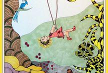 kinderboeken illustraties Ineke van Gorp / Illustraties van Reuzefijntje deel 1 en 2 illustraties gemeenteboekje