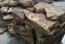 Sample landscape stones/flagstone/river rock  / Sample landscape stones/flagstone/river rock.  From Crab Orchard, TN