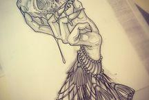 Leg witch tattoo