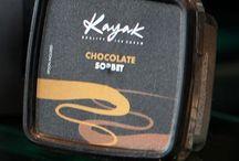 Valrhona Chocolate Sorbet / Valrhona Chocolate Sorbet from our Mini cup range #kayak_icecream #icecream