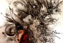 "David Choe Art / Paintings and other artwork by the Los Angeles-based visual artist, David Choe known for his signature ""dirty hands"" style"