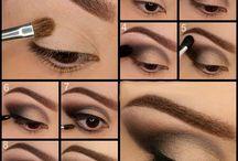 make up - eyes and face