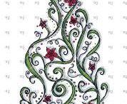 Christmas Tangles and Craft