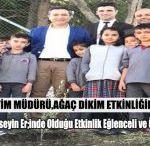 Milli Eğitim Müdürü Ağaç Dikim Etkinliğine Katıldı