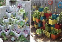 Giardino Con Blocchi Di Cemento