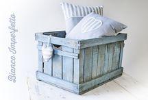 Woodbox / Blue wood box