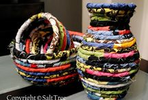 DIY Examples Fabric Coiled Baskets