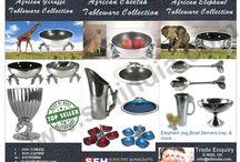 Aluminium Collection Brochure / Aluminium collection bowl,jug,vase,platter,serviette holder,candle holder,trivet,salad servers,dinnerware,tableware,homeware & handicrafts
