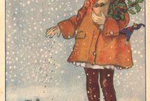Gammeldags julekort