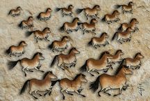 Jan's Cave Art - Horses / This is a digital sketch I created for a painting I want to create. The inspiration comes from the cave paintings of early Neolithic man, except, sketched in photoshop.