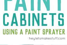 spray paint kitchen cabinet