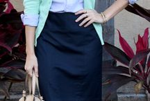 Navy skirt ideas
