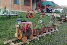 giardino in legno