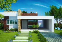 Plantas de casa moderna
