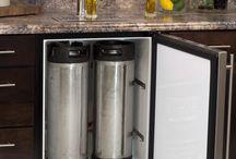 Barriles de cerveza choperas