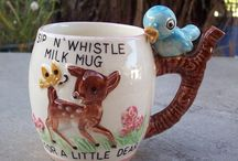 Vintage children's sip n whistle mug