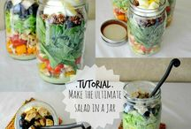 Salads in a mason jar