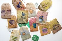My art on teabag And others / Marca páginas / Bookmarks with Teabag