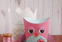 Sizzix Thinlits owl and fox