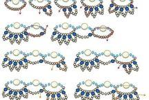 Collier perles / Collier en vagues