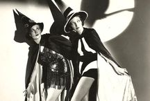 Spooky vintage Halloween / Creepy yet glamorous Hallowe'en inspiration and spooky vintage fashions