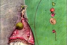 Gaelle Boissonnard / De vakre illustrasjonene til Gaelle Boissonnard må ha en egen tavle. Så grasiøse og spesielle. Jeg har alltid et lite lager av disse kortene liggende.