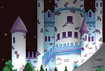 Kids room Castle murals / by MaryKay Webster