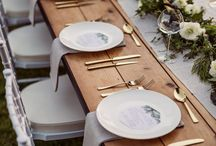 CMA Gold and copper cutlery / Heavey weighted copper and gold cutlery