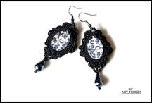 gothic jewelry, soutache