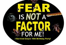 Fear Factor / I think it's not good to allow your fear or dislike stop you from doing things you want to do, or need to do to reach your goals. So - I'm going to take on the challenges and win them, one after another, so that if I ever got to play the game, nothing would be too disgusting or scary to me.