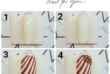 Nailart step by step / Step by step nail art tutorial.