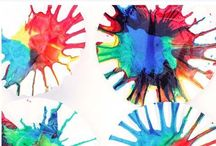 Rainbow art & science early years