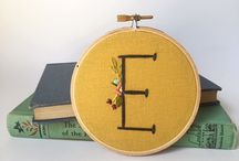 Garland & Pendant / A collection of hand embroidered hoop art and hand embroidered necklaces available in my etsy shop.