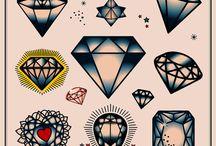 Tatuaże diamenty