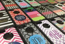 Monogrammed iPhone 6 Otterbox Cases / Otterbox® Commuter and Defender cases for iPhone 6, personalized cases by BoutiqueMe.com