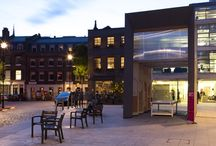 """'Smith' at Clerkenwell Design Week 2014 / This temporary installation, part of Clerkenwell Design Week, was conceived as an idealised factory structure that would house various """"makers"""" during the week-long festival. Architect: Studio Weave -  Photography: Agnese Sanvito"""