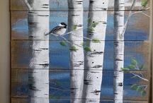 kunst op hout