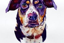 Doggie paintings