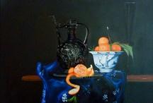 Stillevens / Schilderijen van Walter die gemaakt zijn met olieverf.