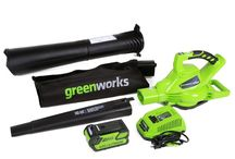 Greenworks 40V 185 MPH Variable Speed Cordless Blower Vacuum 4 AH Battery Includ