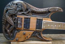 Decorated Musical Instruments / Various musical instruments that are decorated well beyond the norm.