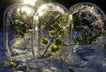 Christmas 2015 / Thematic elements for Christmas Eve 2015 services and decorations. Initial theme has to do with the cold of winter giving way to the warmth and life of spring. Heavy emphasis on ice as a decorative/programmatic element.
