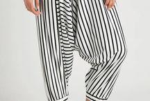 Gogo Pants White Stripes design by Monday to Sunday