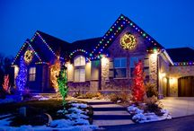 Christmas Houses / Ideas for decorating the outside of your home at Christmas