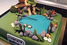 co jsem upekla / dort pro kamaráda rybáře