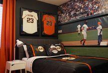 SF Giants Teen room / SF Giants bedroom, teen bedroom