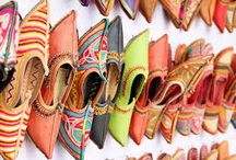 India Inspired footwear and bags / Footwear| sandals| shoes| India | India Inspired | Indian design | Indian colour | floral design | pom pom