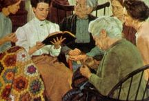 Quilting woman