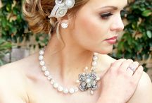 Headband. pearls. bracelets.
